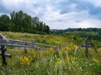 Золотое кольцо России. Плес. On Mount Levitan on a cloudy summer day, the city of Plyos, Ivanovo Region, Russia. Фото svn48 - Depositphotos