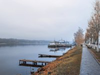 Плес. The ancient Russian town of Plyos on the Volga river in late autumn. The city is connected with the great Russian artist Levitan. Фото medvedevaoa.bk.ru-Deposit