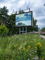Золотое кольцо России. Плес. Picture of the artist Levitan Over eternal peace on Mount Levitan, the city of Plyos, Russia. Фото svn48 - Depositphotos