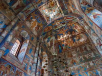 Interior of Church of the Resurrection of Christ in Rostov Kremlin. Rostov is one of the oldest town in the Russia and tourist center of the Golden Ring. Фото paanna-Deposit