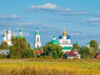 Золотое кольцо России. Ростов Великий. Panorama of a monastery in the ancient Russian city of Rostov Veliky. Gold ring of Russia. Фото IrinaDance - Depositphotos