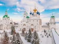 Россия. Ростов Великий. Спасо-Яковлевский монастырь. Gold ring of Russia. Monastery on the shore of Lake Nero in Rostov Veliky in winter. Фото IrinaDance-Deposit