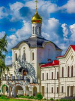Россия. Ростов Великий. Троице-Варницкий монастырь. Holy Trinity Monastery Varnickiy Rostov Russia gate church name cyril mary. Фото SergeyS - Depositphotos
