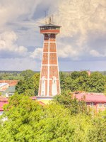 Россия. Ярославская область. Рыбинск. Пожарная каланча. Fire tower Rybinsk Russia. Фото SergeyS - Depositphotos