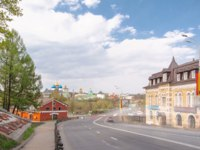 Золотое кольцо России. Сергиев ПосThe panoramic view of the Sergiev Posad Monastery timelapse from road in Russia. Фото neiezhmakov-Deposit