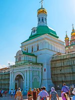 Сергиев Посад. The Holy Gate of St Sergius Trinity Lavra is the main entrance to the medieval monastic complex, the most important Russian Monastery. efesenko-Deposit