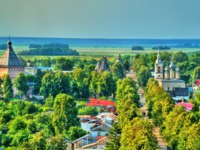 Золотое кольцо России. Панорама Суздаля. Aerial view of Suzdal, a Russian town listed as a UNESCO world heritage site. Фото Leonid_Andronov - Depositphotos