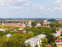 Золотое кольцо России. Суздаль.Unique view of the city of Suzdal from the most top point, Spaso-Evfimiyev the monastery. Фото andrei-anpo - Depositphotos