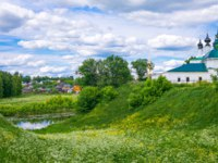 Золотое кольцо России. Суздаль. Russia, Suzdal, landscape of the country with the Kremlin little church. Фото giuseppemasci.me.com - Depositphotos