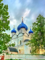 Золотое кольцо России. Суздаль. The Cathedral of the Nativity of the Theotokos at the Suzdal Kremlin, the Golden Ring of Russia. Фото Leonid_Andronov-Deposit