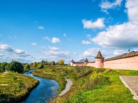 Спасо-Евфимиев монастырь Суздаля. Panorama of ancient town of Suzdal, Russia. St. Euthymius Monastery. Golden Ring of Russia. Фото scaliger - Depositphotos