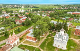Золотое кольцо России. Суздаль. Panorama from the belfry, Suzdal, Russia. Фото nymph2201@gmail.com - Depositphotos