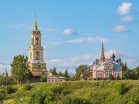 Суздаль. Ризоположенский женский монастырь. Rizopoloshensky monastery in summer day, Suzdal, Golden Ring, Russia. Фото nymph2201@gmail.com - Deposit