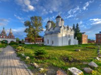 Ризоположенский монастырь. The Cathedral of the Deposition of the Robe (Rizopolozhenskiy Cathedral) in Suzdal, Russia. Фото demerzel21 - Depositphotos_