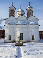Суздаль. Ризоположенский монастырь. Rizopolozhensky cathedral in winter. Suzdal, Russia. Фото deb-37 - Depositphotos