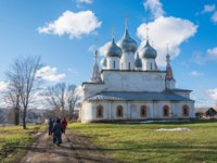 Россия. Тутаев. Крестовоздвиженский собор. One of the many temples in the small Volga town of Tutaev, Yaroslavl region. Фото svn48 - Depositphotos