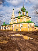 Золотое кольцо России. Углич. Gold ring of Russia. Church of Nativity of John Baptist on Volga in Uglich. Фото IrinaDance - Depositphotos