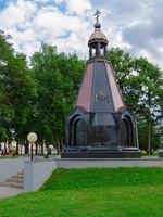 Золотое кольцо России. Углич. Chapel-monument to defenders of Fatherland at all times, Uglich, Russia. Фото Olga355 - Depositphotos