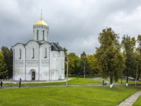 Золотое кольцо России. Владимир. Дмитриевский собор. White Monuments of Vladimir. Cathedral of St. Demetrius. Фото KURLIN_CAfE - Depositphotos