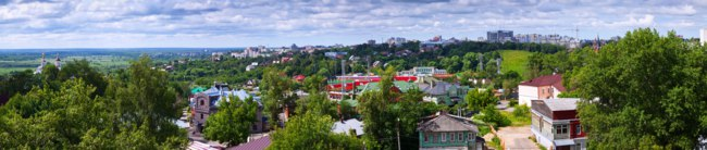 Золотое кольцо России. Владимир. Panoramic view of old district in Vladimir. Russia. Фото Jim_Filim - Depositphotos