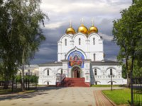 Россия. Ярославль. Успенский собор. Assumption Cathedral in Yaroslavl (Russia) - Orthodox church, founded in 1215. Фото Belikart - Depositphotos