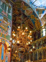 Ярославль. Церковь Ильи Пророка. Frescoes and sacred icons in the interior of the church of Elija the Prophet. Yaroslavl, Russia. Фото giuseppemasci.me.com - Depositphotos