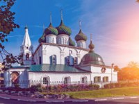 Ярославль. Церковь Спаса на Городу. Beautiful view of the ancient Church of the Savior on the City in the city of Yaroslavl. Russia. Фото medvedevaoa.bk.ru - Depositphotos