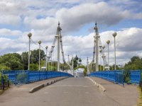 Золотое кольцо России. Ярославль. Bridge to the island Damanskii. Yaroslavl, Russia. Фото Belikart - Depositphotos