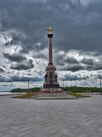 Золотое кольцо России. Ярославль. The Golden ring of Russia, the Arrow, the embankment of the rivers Volga and Kotorosl, Yaroslavl city. Фото Simanovskiy - Depositphotos