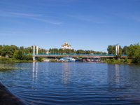 Золотое кольцо России. Ярославль. Yaroslavl; view of Kotoroslnaya embankment from the side of the Damansky island. Фото AleksandraRaspopina - Depositphotos