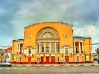 Золотое кольцо России. Ярославль. Volkov drama theatre in Yaroslavl, the Golden Ring of Russia. Фото Leonid_Andronov - Depositphotos