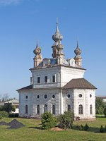 Россия. Юрьев-Польский. Собор Михаила Архангела. Cathedral of the Archangel Michael in the same monastery in Yuriev-Polsky, Russia. Фото viknik-Depositphotos
