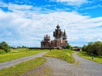 Клуб путешествий Павла Аксенова. Россия. Карелия. Остров Кижи. Kizhi Pogost with Transfiguration Church in Ladoga Lake in Karelia. Фото erix2005-Deposit
