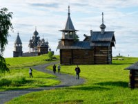 Россия. Карелия. Остров Кижи. Kizhi Pogost with Transfiguration Church on Ladoga Lake at Karelia in Russia. Фото erix2005-Depositphotos