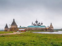 Россия. Соловецкие острова. Solovetsky Monastery is a fortified monastery located on the Solovetsky Islands in the White Sea. Holy lake. Фото borisb17-Deposit