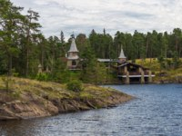 View of Valaam Chapel of Saints.Valaam orthodox Savior-Transfiguration Monastery. Iseland. Ladoga lake. Фото A_Mikhail-Depositphotos
