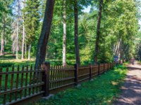 The fence hegumenskogo cemetery. The wonderful island Valaam is located on Lake Lodozhskoye, Karelia. Фото GeneralSky-Depositphotos