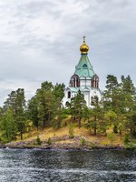 Россия. Карелия. Остров Валаам. Church of Saint Nicholas on Valaam island, Russia. Фото borisb17-Depositphotos