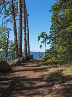 The shore of the skete of Alexander Svirsky_1. The wonderful island Valaam is located on Lake Lodozhskoye, Karelia. Фото GeneralSky-Depositphotos