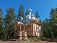 Карелия. Остров Валаам. The Church Of The Dormition Of The Mother Of God. The island Valaam is located on Lake Lodozhskoye, Karelia. Фото GeneralSky-Deposit