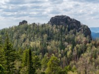 Россия. Красноярские столбы. Reserve Krasnoyarsk Pillars. The Second Pillar, view from the Fourth Pillar. Фото tilpich.yandex.ru - Depositphotos