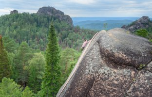 Россия. Красноярские столбы. Krasnoyarsk, Russia. Pillar the Fourth. Central pillars of Russian reserve Stolby Nature Sanctuary. Фото Miragik - Depo