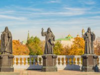 The sculpture complex of the Patriarchs of Moscow and All Russia. The authors are sculptor Salavat Shcherbakov, architect Igor Voskresensky. Moscow. Фото IrinaDance