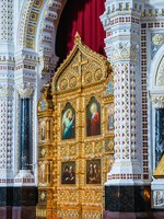 Россия. Москва. Интерьер Храма Христа Спасителя. Interior of the Cathedral of Christ the Savior in Moscow. Russia. Фото Observer-Depositphotos