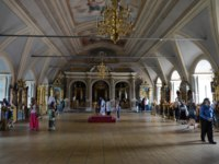 Россия. Москва. Новодевичий монастырь. Interior of the assumption Church . Novodevichy Bogoroditse-Smolensky monastery-Orthodox convent in Moscow on