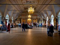 Россия. Москва. Новодевичий монастырь. Interior of the assumption Church . Novodevichy Bogoroditse-Smolensky monastery-Orthodox convent in Moscow. Фото