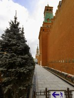 Россия. Москва. Красная площадь. Панорама Views of burials and Mausoleum at The Kremlin Wall Necropolis. It was designated a protected Landmark in 1974