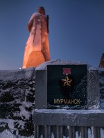 Мурманск. Монумент Алеша. Alyosha Monument, Defenders of the Soviet Arctic during the Great Patriotic War, Murmansk, Russia. Фото Redmona - Depositphotos