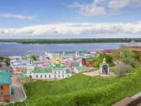 Россия. Вид из Нижегородского кремля. View of center Nizhny Novgorod from Kremlin. Russia. Фото Belikart - Depositphotos