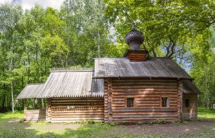 Нижний Новгород. Музей-заповедник Щёлоковский хутор. Church in the Museum of Wooden Architecture Shchelokovsky Khutor. Nizhny Novgorod. Фото Belikart-Dep